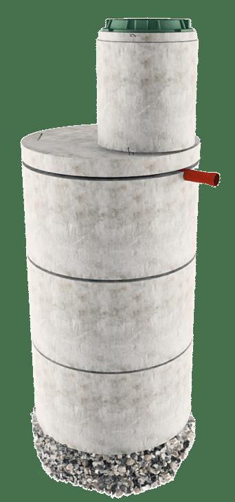 Септик из бетонных колец в Клинском районе